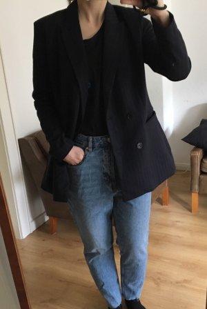 H&M Blazer stile Boyfriend blu scuro-viola scuro