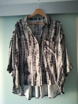 H&M Oversized blouse lichtgrijs-antraciet