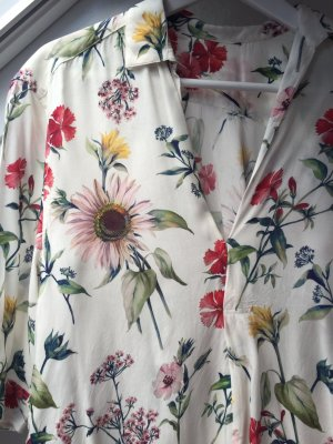 Oversize Bluse Blumen Gr. S