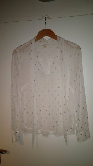 H&M Oversized blouse wit-goud Polyester