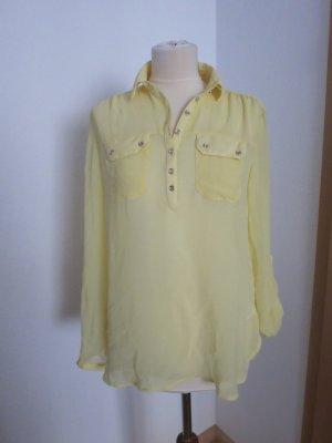 Oversize Bluse gelb