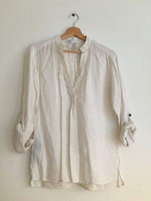 Oversize Bluse im Leinen-Look