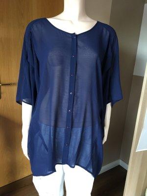 Oversize-Bluse in dunkelblau von ASOS, Größe 40