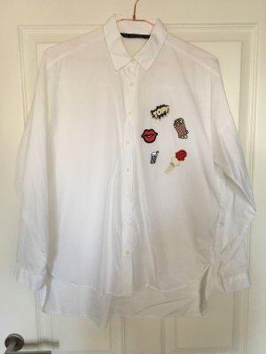 Zara Oversized blouse wit Katoen