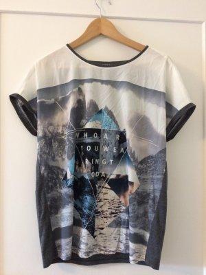 Oversize Blusenhirt mit Grafikdruck von Esprit, Größe L