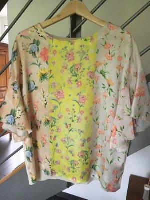 Oversize Blusenshirt Zara Satin M Bluse