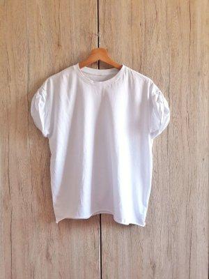 Oversize Boyfriend Casual Basic Shirt weiß onesize