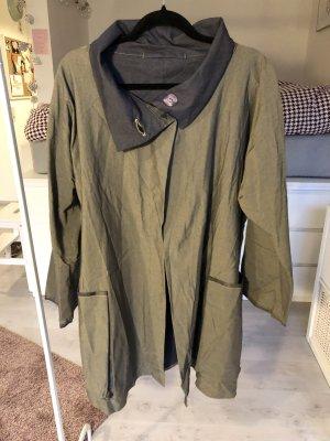 Oversize Cape Jacke khaki olivgrün Mantel A-Linie