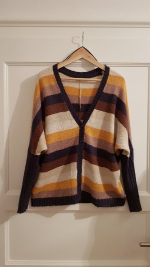 Oversize Cardigan, gestreift, winter, Gr. S