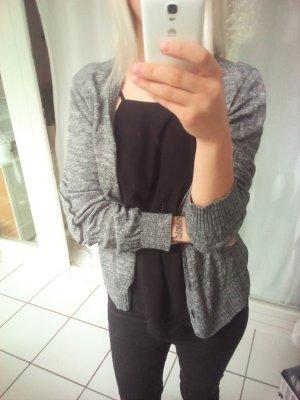 Oversize Cardigan strickjacke grau meliert