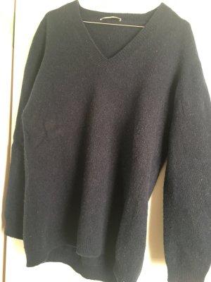 Stefanel Pull en cashemire bleu foncé laine