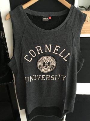 Oversize College-Shirt/Sweatshirt Grau Gr. S