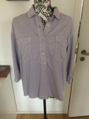 Oversize Denim Bluse flieder H&M