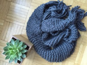 Oversize Grey Wool Scarf