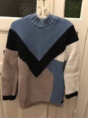 Oversize H&M Strickpullover Pullover aus Strick mit graphischem Muster