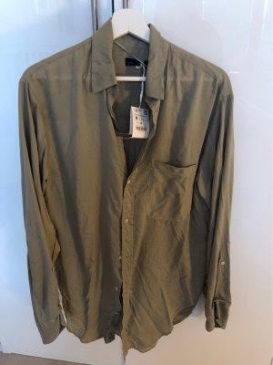Zara Long Sleeve Shirt green grey