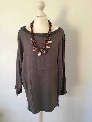 Oversized blouse zilver Katoen