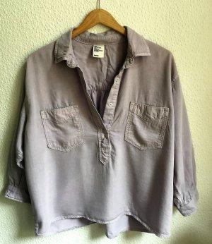 oversize hemd von H&M lila denim 34 XS