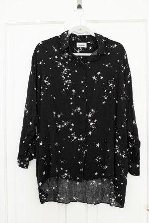 Weekday Camisa de manga larga negro-blanco Viscosa