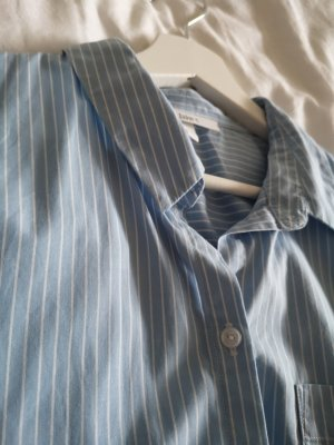 Jake*s Robe chemise blanc-bleu azur