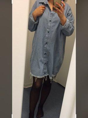Oversize Hemdkleid Mini Hemdkleid Jeanskleid