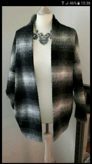 Oversize Jacke grau schwarz