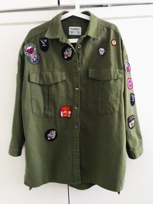 Pull & Bear Oversized Jacket khaki