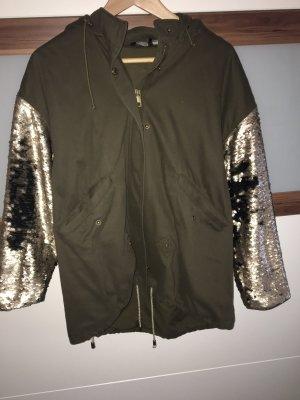 Oversize Jacke mit Wendepailetten