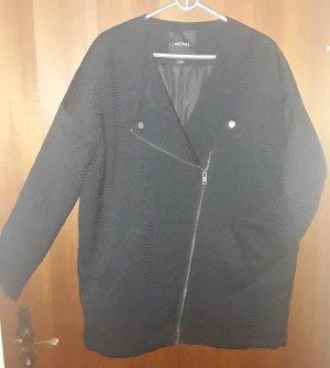 Monki Veste oversize noir-argenté