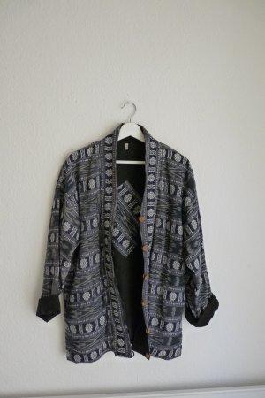 Oversize Jacke Thailand S M L 38 40 42 Hippie Indie Boho Festival blau weiß Urbanstyle Streetwear