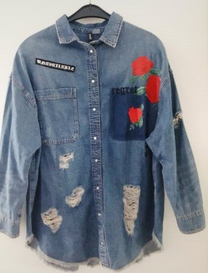 H&M Denim Shirt red-azure