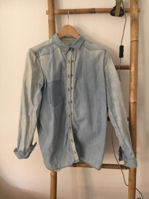 Pull & Bear Jeans blouse lichtblauw