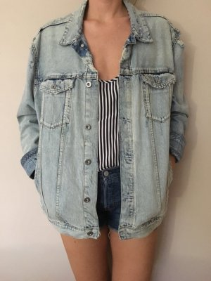 Oversize jeansjacke im used Look