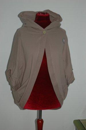 Sweatshirt met capuchon zandig bruin