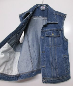 Vintage Denim Vest multicolored cotton