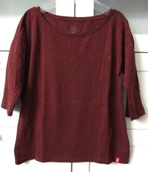 Oversize Kasten Shirt Halbarm Weinrot Braun Gr. XS