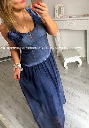Oversize Kleid Bodenlang Blogger Kleid lang Sweatkleid sexy Rücken Cut Out Spitze Einteiler Sommerkleid passt S-XL