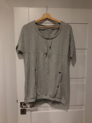 Only Vestido de tela de sudadera gris