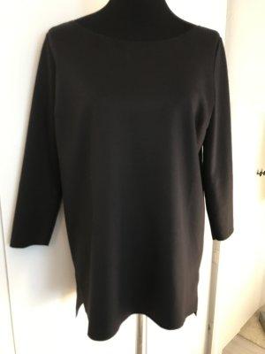 Oversize Kleid schwarz Rundhals