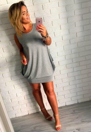 Oversize Kleid Sweatkleid Blogger Maxikleid Minikleid Sommerkleid passt bei L-XL