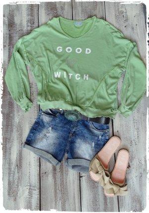 Haut vert clair-vert menthe coton