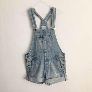 H&M Pantalón corto tipo peto azul celeste Algodón