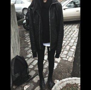 Oversize Lederjacke/Bomberjacke