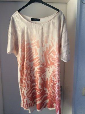 oversize long Shirt von Zara in nude / koralle / lachs