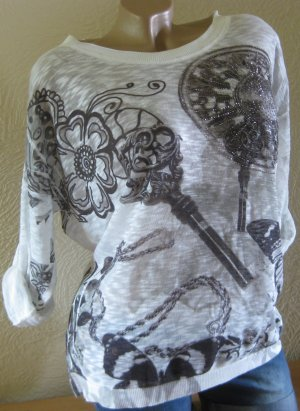 Oversize Longtop Tunika TOP Shirt  Pulli Gr. 44/46 NEU