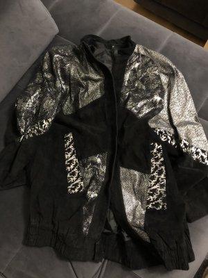 Cappotto taglie forti nero-argento