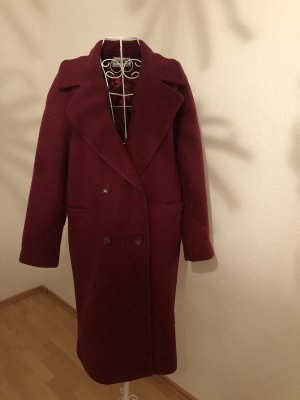 NA-KD Oversized Coat bordeaux-blackberry-red
