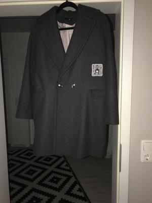 Oversize Mantel dunkelgrau von H&M