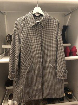 H&M Manteau oversized noir-blanc