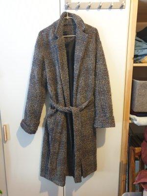 Oversize Mantel mit Bindegürtel